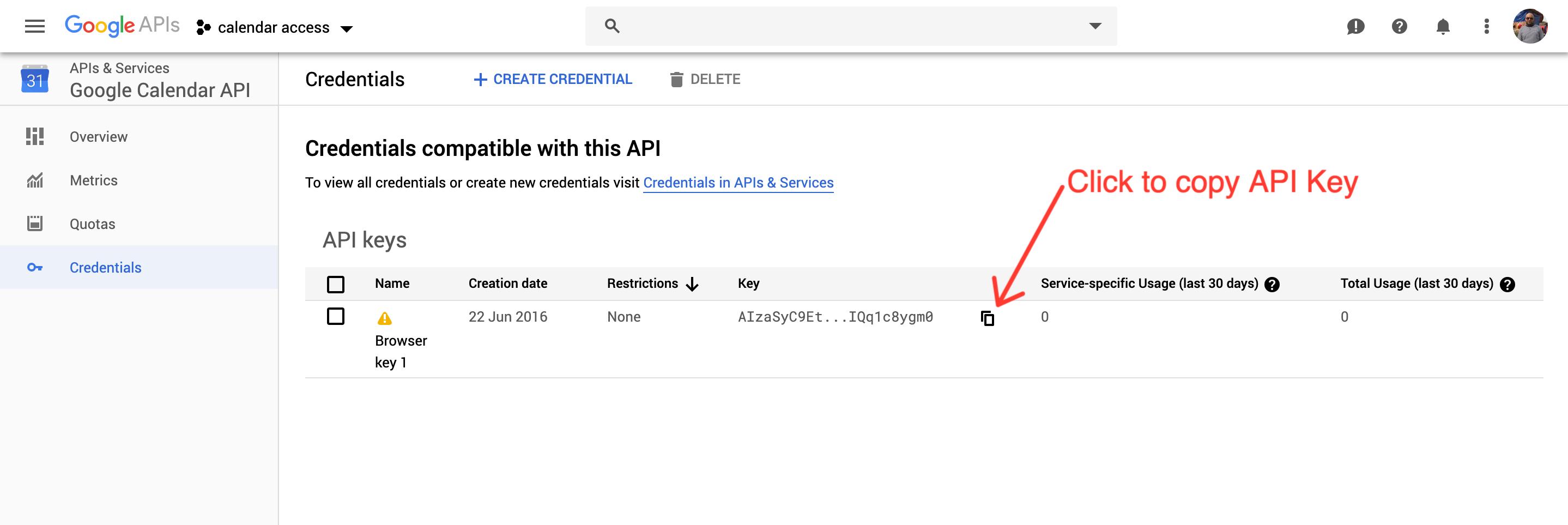 Get Google Calendar API Key – Support imithemes